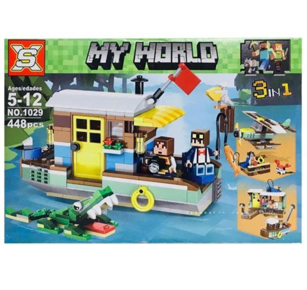 Конструктор My World Корабль Майнкрафт 3 в 1