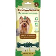 Зубочистики с мятой Лакомство с хлорофиллом для собак мелких пород, 60г