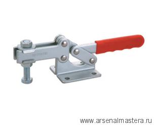 Зажим механический с горизонтальной ручкой усилие 630 кг, прижим 127мм, база 45мм GOOD HAND GH-204-GBL