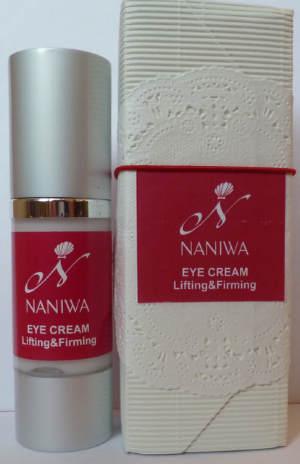 Крем для глаз NANIWA Lifting&Firming с нанокапсулами - омоложение, разглаживание морщин+лифтинг. Может применяться для глаз и губ. Содержит олигопептидные комплексы и большое количество гиалуроновой кислоты.