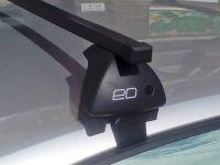 Багажник на крышу Hyundai Solaris 2011-17, sedan, Евродеталь, стальные прямоугольные дуги