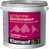 Декоративная Штукатурка Alpa Element S-1 15кг Акриловая, Структурная, Белая