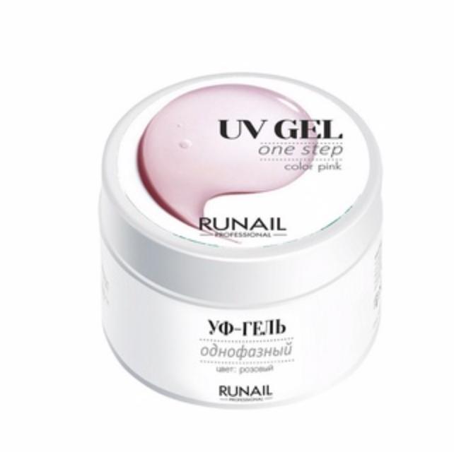 ruNail, Однофазный UV-гель, розовый, 15 г