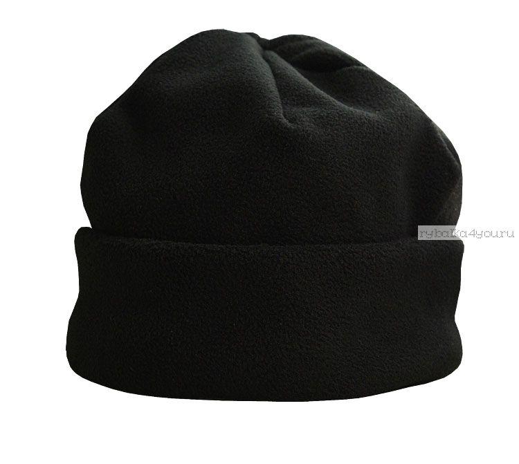 Шапка Novatex ВЕСНА с флисом,с отворотом (Черный)