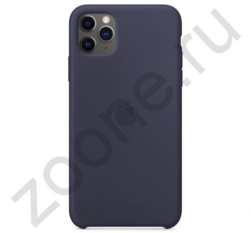 Чехол для iPhone 11 Pro Silicone Case силиконовый темно-серый