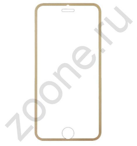 Защитное стекло для iPhone 6 Full Frame золотое