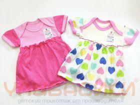 ММ Боди - платье для девочки короткий рукав (кулирка)