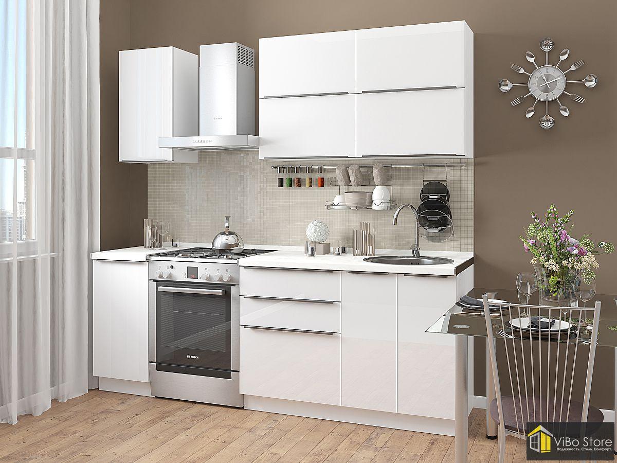 Модульная кухня белого цвета