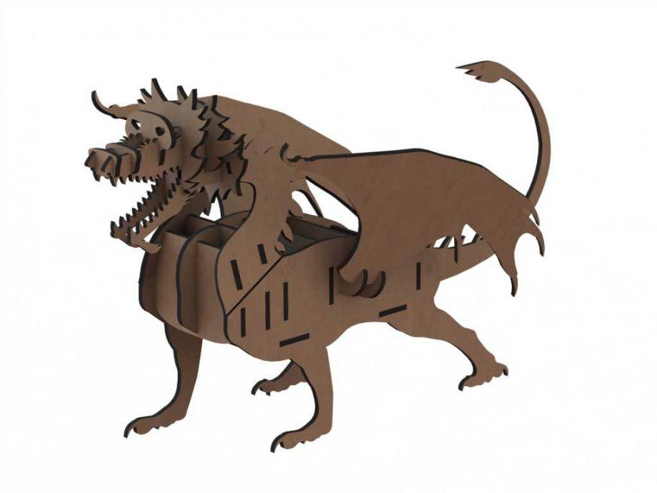 Органайзер из дерева настольный дракон