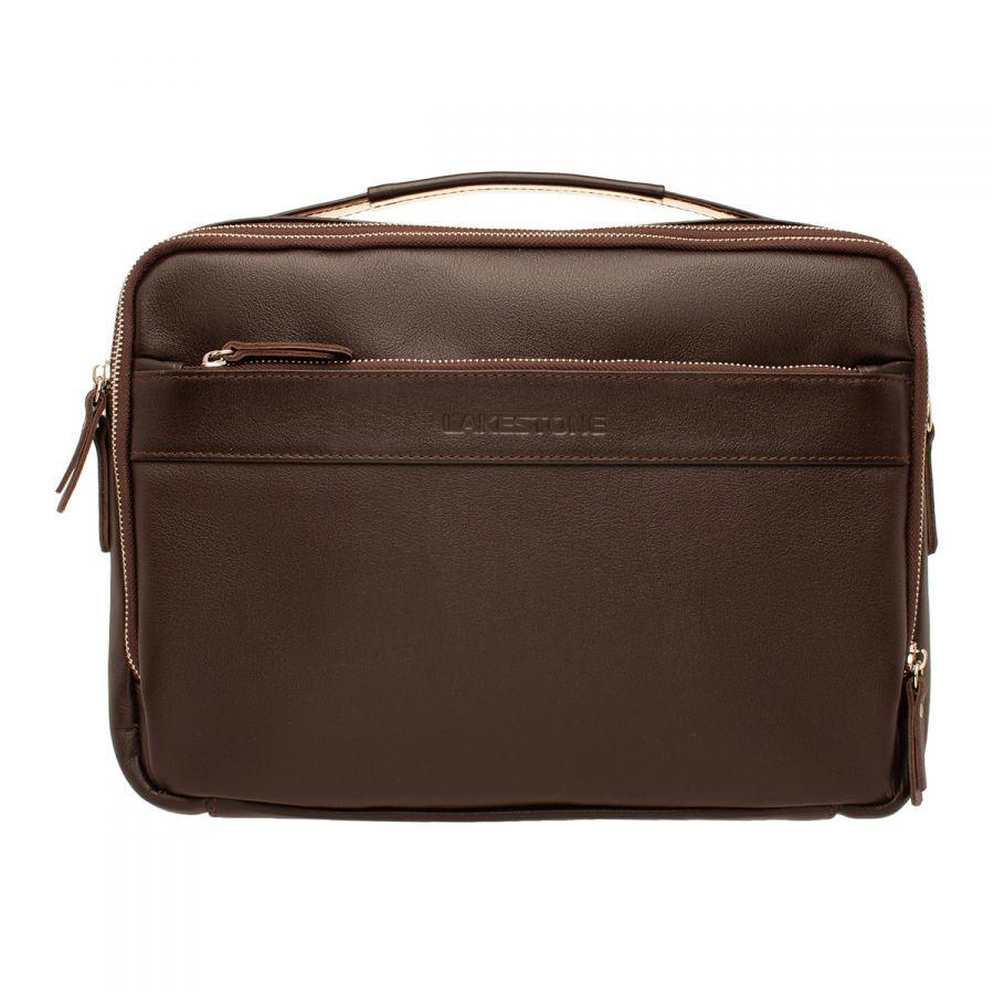 Кожаная мужская сумка LAKESTONE Anhor Brown