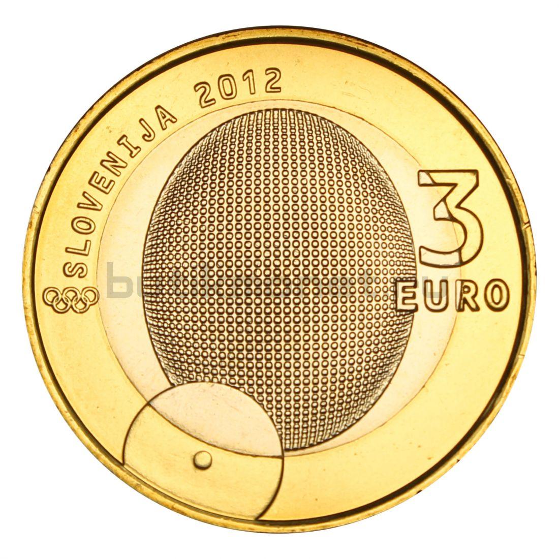 3 евро 2012 Словения 100 лет первой олимпийской медали Словении