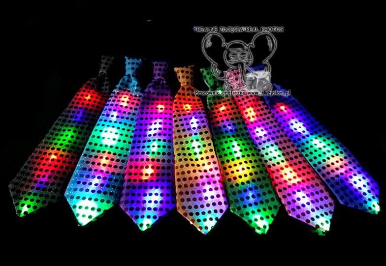 Светящийся карнавальный галстук(Цвет: Серый)