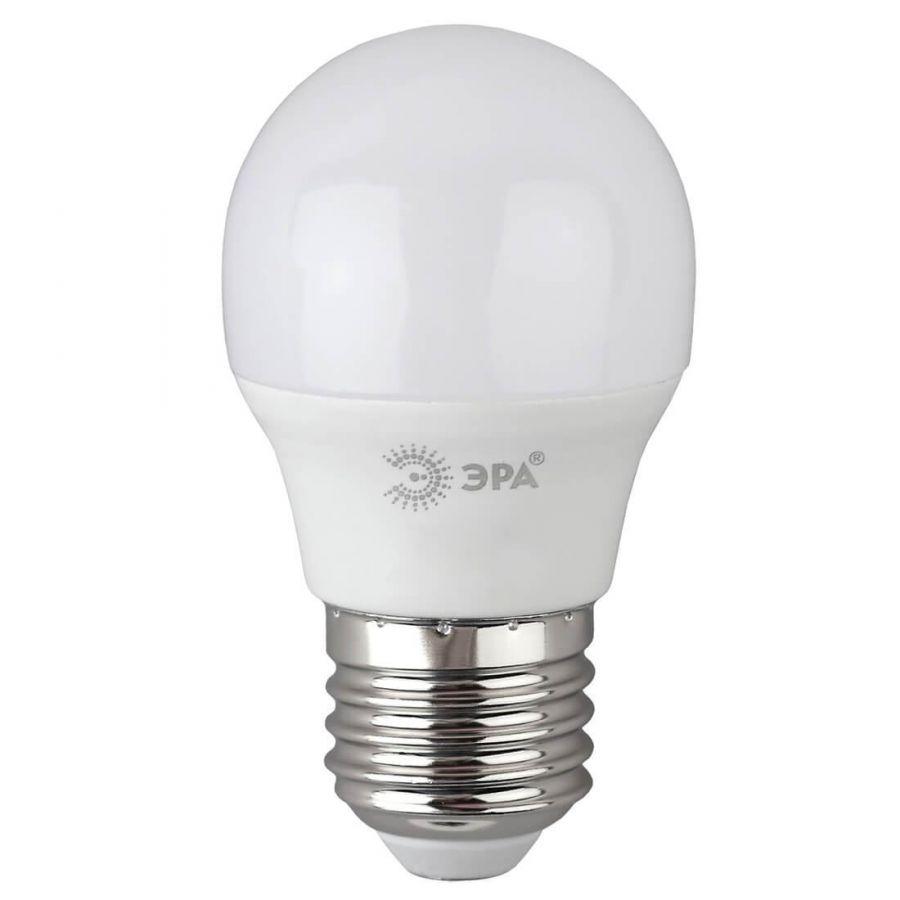 Лампа светодиодная ЭРА E27 8W 6500K матовая P45-8W-865-E27 R
