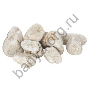 Камень Белый Кварц Отборный (ведро 10 кг)