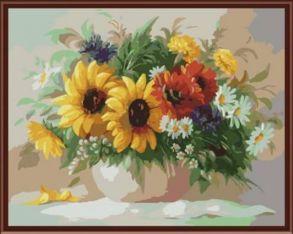 Картина по номерам «Садовый букет» 40x50 см