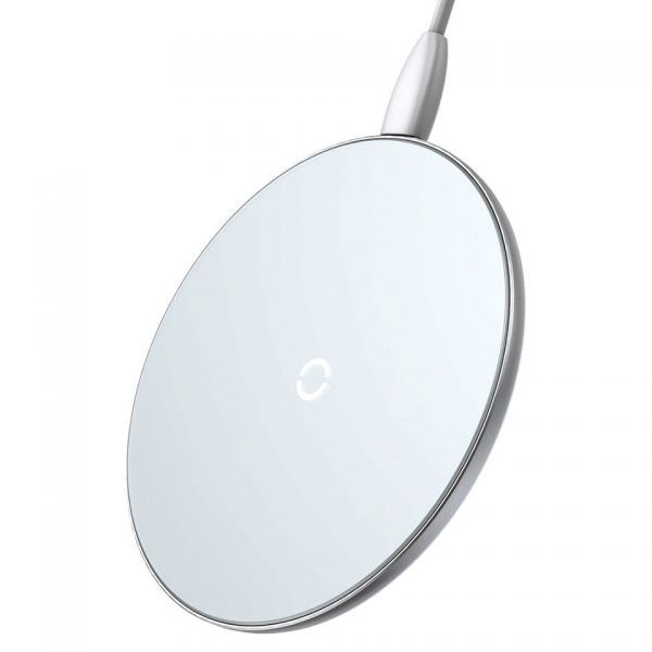 Беспроводная ЗУ Baseus Simple Wireless Charger Белая (CCALL-JK02)