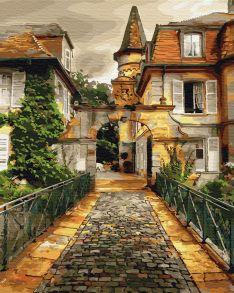 Картина по номерам «Ретро дворик» 40x50 см