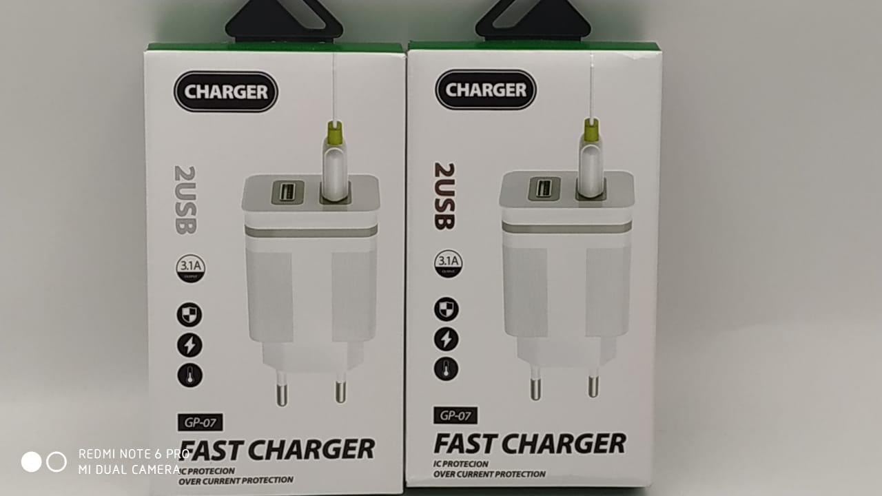 Зарядное устройство Charger GP-07 c двумя USB