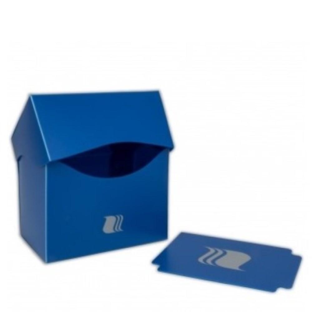 Пластиковая коробочка Blackfire горизонтальная - Синяя (80+ карт)