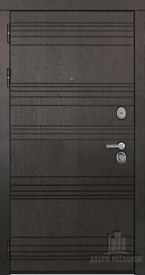 Дверь входная со сменными панелями Министр, цвет горький шоколад, панель - министр цвет кантри горизонт( большое количество внутренних панелей)