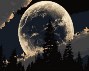 Картина по номерам «Сказочная луна» 40x50 см