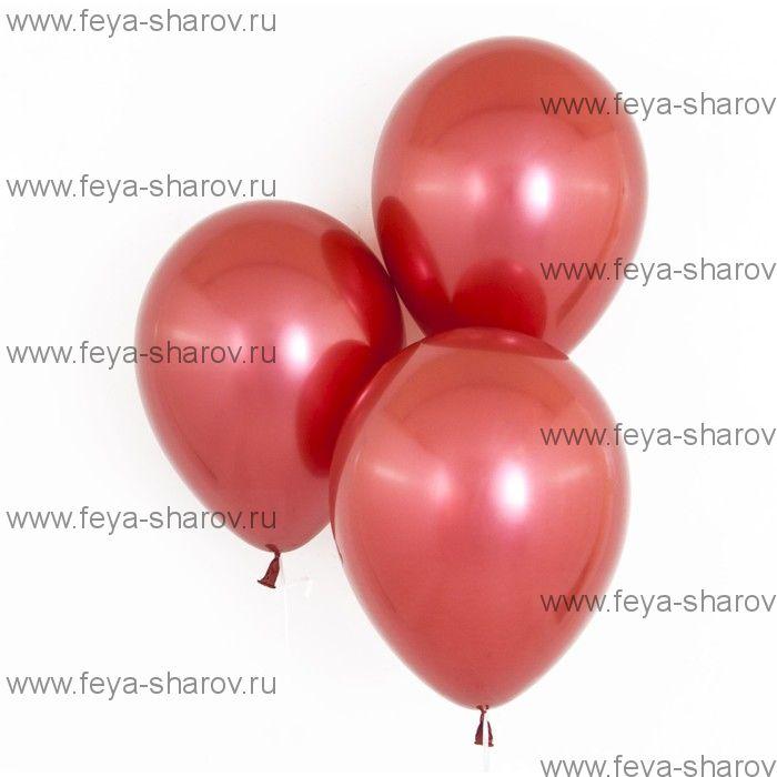"""Шар 12"""" (32 см) Хром Красный"""