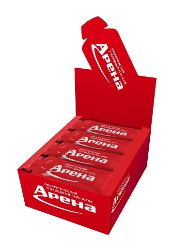 Углеводный гель Арена Нон-Стоп со вкусом лимона, бокс 24 шт