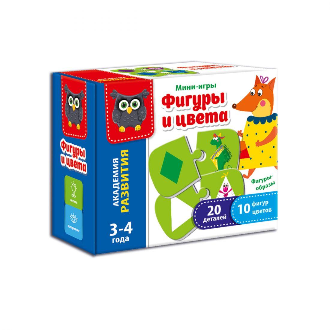 Развивающая игра VLADI TOYS VT5111-04 Формы и цвета