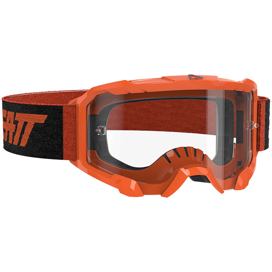 Leatt Velocity 4.5 Neon Orange/Clear 83% очки для мотокросса и эндуро