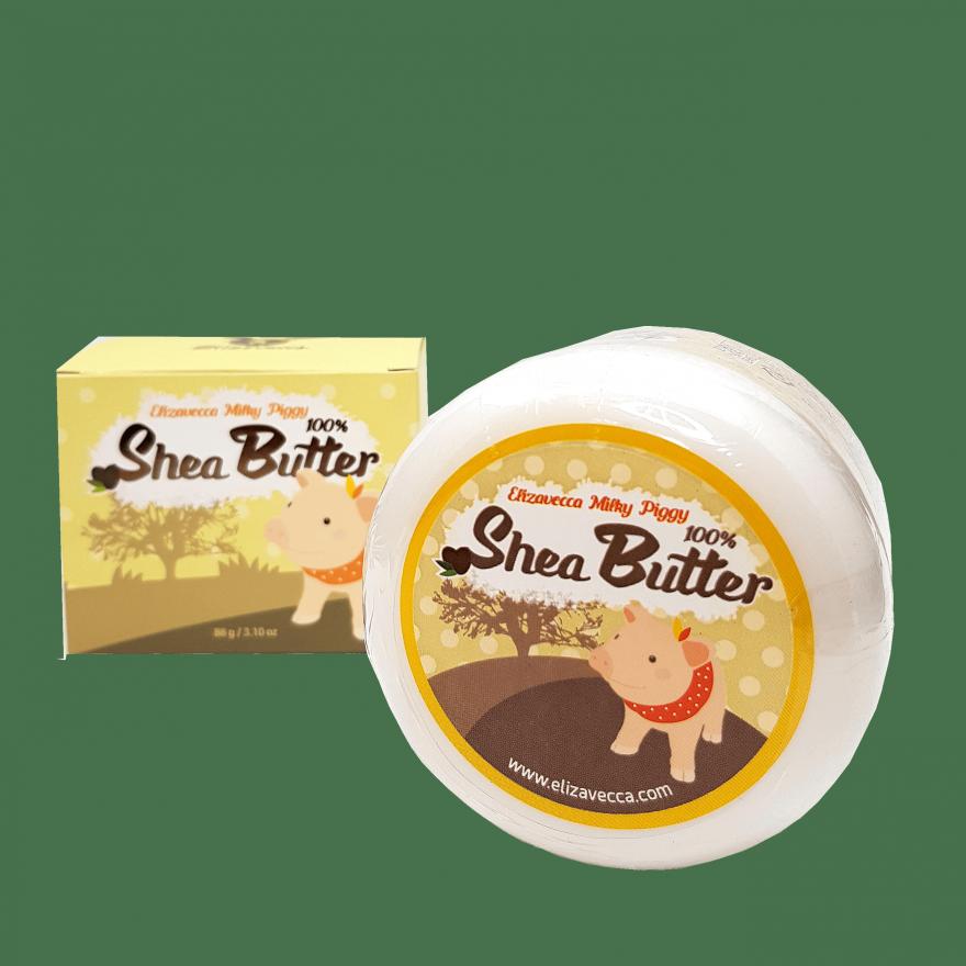 Многофункциональное 100% масло ши для лица и тела Elizavecca Milky Piggy Shea Butter 100%