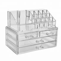 Акриловый органайзер для косметики Multi-Functional Storage Box QFY-3112, прозрачный