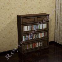 Книжный шкаф Лондон Ли-box  орех с патиной