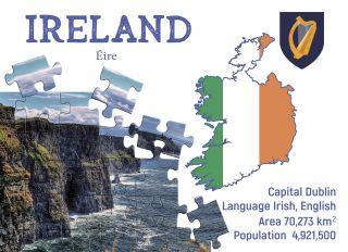 Почтовая открытка Step to Ireland