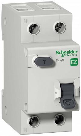 SE EASY 9 Дифференциальный автоматический выключатель 1П+Н 25А 30мА C AC