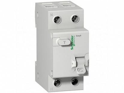 SE EASY 9 Дифференциальный автоматический выключатель 1П+Н 40А 30мА C AC =S=