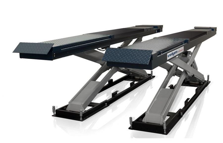 Подъемник ножничный Velyen 4EE2600 г/п 5500 кг., платформы для сход-развала