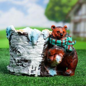 """Фигурное кашпо """"Медведь с шарфом""""   3889471"""