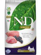 N&D Prime Dog GF Lamb & Blueberry Adult Mini Ягненок, черника. Полнорационный корм для взрослых собак. (800 гр)