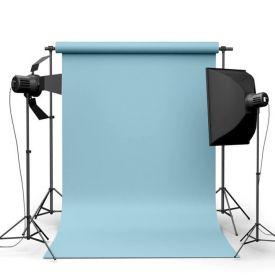 Фотофон виниловый Голубой ширина 2-2.5м