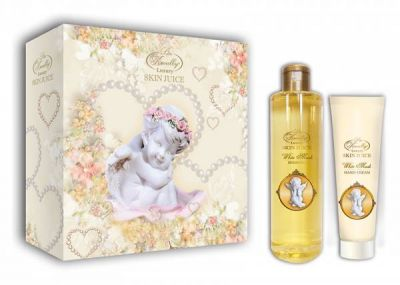 Liss Kroully Skin juice Парфюмерно-косметический подарочный набор AN-1704 White Musk Шампунь 260 мл + Крем для рук 100 мл