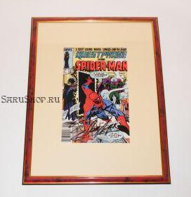Автограф: Стэн Ли. На комиксе Человек Паук 1984 года. Редкость