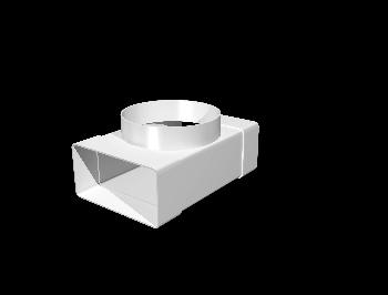 Соединитель Т-обр.пластик,плоских воздуховодов 55х110 с выходом на фланц. воздухораспр.D100
