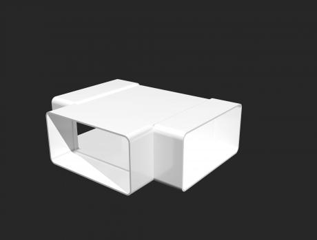 Тройник Т-образный пластик 60х204