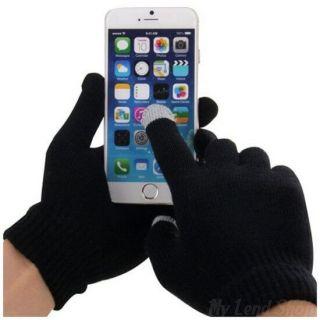 Перчатки для сенсорных экранов, Черный