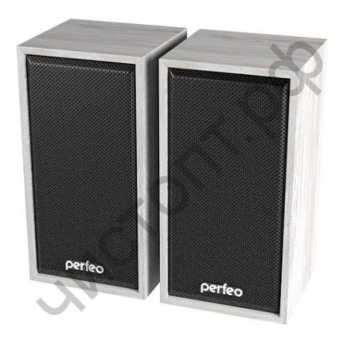 """Актив.колонки 2.0 Perfeo """"CABINET"""" 2.0,  2х3 Вт (RMS), белый дуб, USB (PF-84-WW)"""