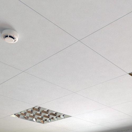 Потолок кассетный Cesal 3306 белый матовый 600x600 мм.