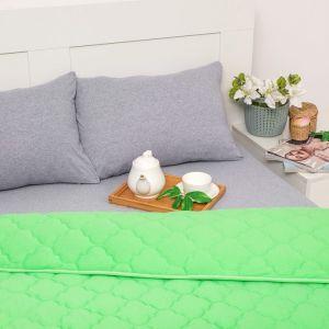 Постельное бельё Brooklin Bed 2 сп. цвет салат 180х200 рез. (серый), одеяло 170х220, 50х70 2шт, трик Терри, хл100%