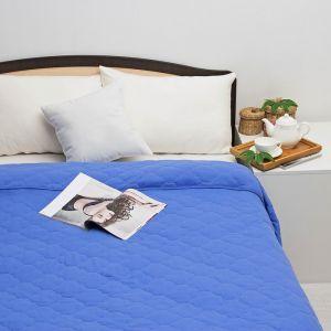 Постельное бельё Brooklin Bed 2 сп, цвет синий, простыня на резинке 180х200, одеяло 170х220, 50х70 - 2шт, трикотаж Терри