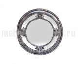 Зеркало круглое в серебристой раме M983B