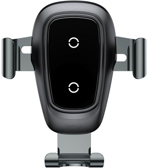 Автодержатель с беспроводной зарядкой Baseus Metal Wireless Charger Gravity Car Mount Черный (WXYL-B0A)